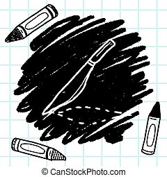 Scalpel doodle drawing