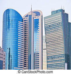 Modern the high-rise buildings in the Astana city,...