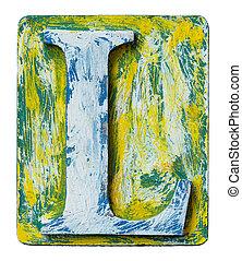 Wooden alphabet letter L - Wooden alphabet block, letter L
