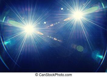 Flares - Natural lens flare blue background