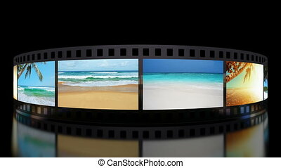 Summer memories animation - Summer memories film carousel 3D...