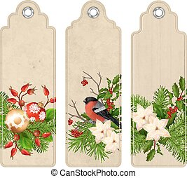 Vector Christmas Bookmark