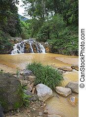 surroundings Yang Bay waterfall in Vietnam - surroundings...