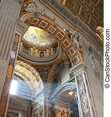 St Peters Basilica - Indoor St Peters Basilica at Vatican...