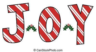 Joy Mistletoe Letters