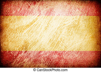 Grunge rubbed flag series of backgrounds. Spain.