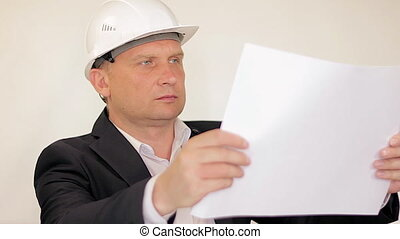 The Engineer-Builder Thinks About The Object on white background