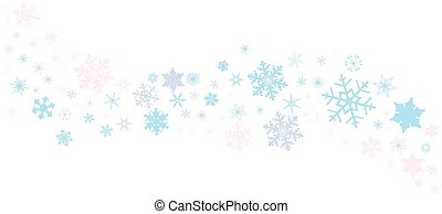 Snowflake Spangled Banner - A banner of snowflakes in pastel...