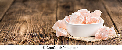 Portion of himalayan Salt (selective focus) - Portion of...