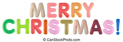 Merry christmas. Words isolated on white background. - Merry...