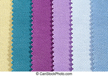 Background of colorful stripes of serrated cotton fabric,...
