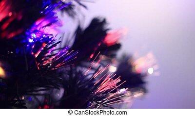 tree flashing lights - defocused christmas tree lights....