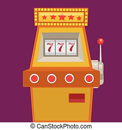 Slot machine with jack pot vector illustration - Slot...