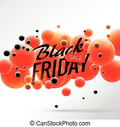 black friday sale background poster with red and black bubbles