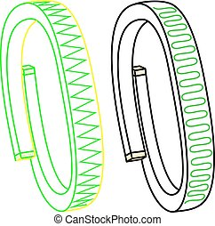 Vector illustration of fitness band, hand bracelet