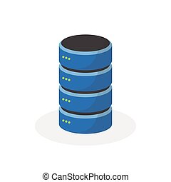 Data storage icon with single base storage, ESP10