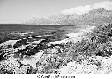in south africa coastline indian ocean near the mountain and...