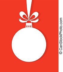 Christmas bauble with bow