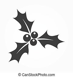 Holly berries icon. Vector illustration