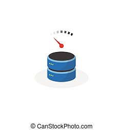 Data storage icon with slow speed base storage