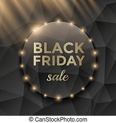 Black Friday sale poster design with black triangle...
