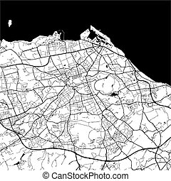 Edinburgh, Scotland, Monochrome Map Artprint