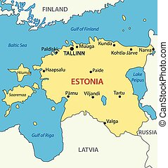 Republic of Estonia - vector map