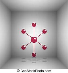 Ilustración, habitación, molécula, señal,  bordo, sombra, icono