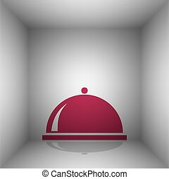 Server sign illustration. Bordo icon with shadow in the...