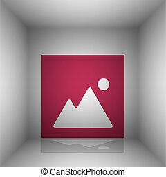 Image sign illustration. Bordo icon with shadow in the room.
