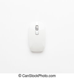 computer mouse on white background. not isolated - wireless...