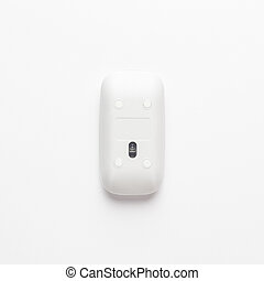 computer mouse upside down on white background. not isolated...
