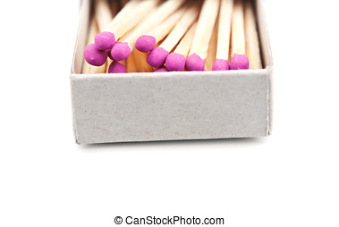matches box isolated on white background