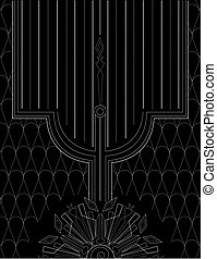 Art Deco vintage wallpaper pattern. Geometric decorative...