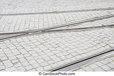 Old tram tracks - Old tram routes, details of urban...