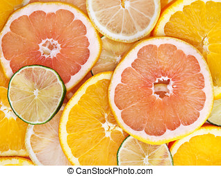 fresh fruit mix on background
