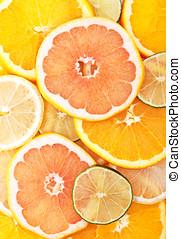 fruit mix background - fresh fruit mix on background