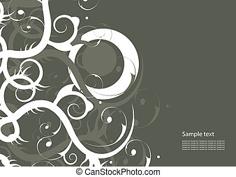 Modern abstract background - Editable vector abstract...