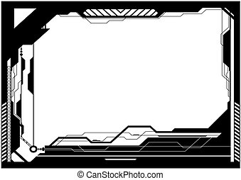 High-tech frame - Editable vector high-tech futuristic frame...