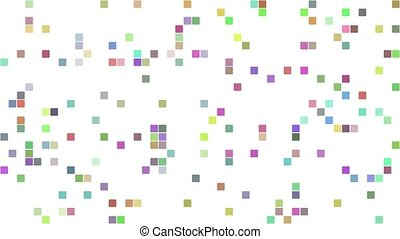 Multicolored pixel square mosaic background
