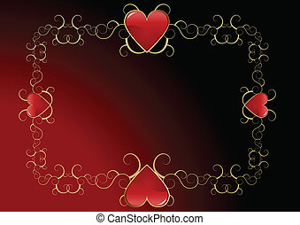 Valentines day background - Editable abstract Valentines day...
