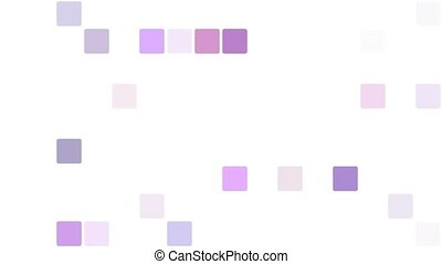 Purple squares appearing in mosaic background - Abstract...