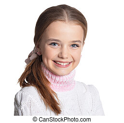 Portrait of preteen girl