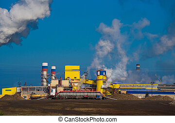 Air pollution by factory smoke