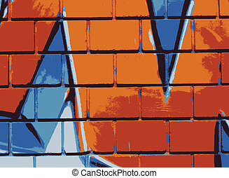 Graffiti wall - Vector - Graffiti wall close up - Vector...