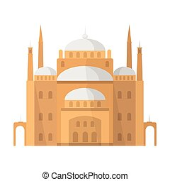 Cairo Citadel icon in cartoon style isolated on white...