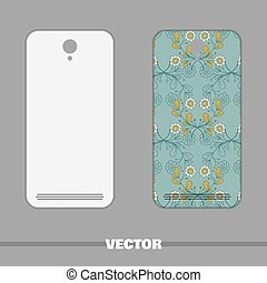 Phone Cover Blue Floral Ornament