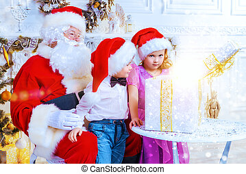 santa brought gifts - Santa Claus brought gifts for...