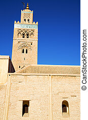 maroc minaret the blue sky - in maroc africa minaret and the...