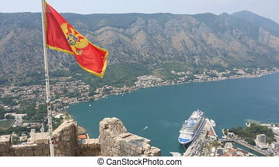 Looking over the Bay of Kotor in Montenegro